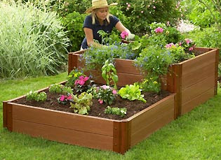 Edging design ideas july 2011 for Best material for raised garden beds