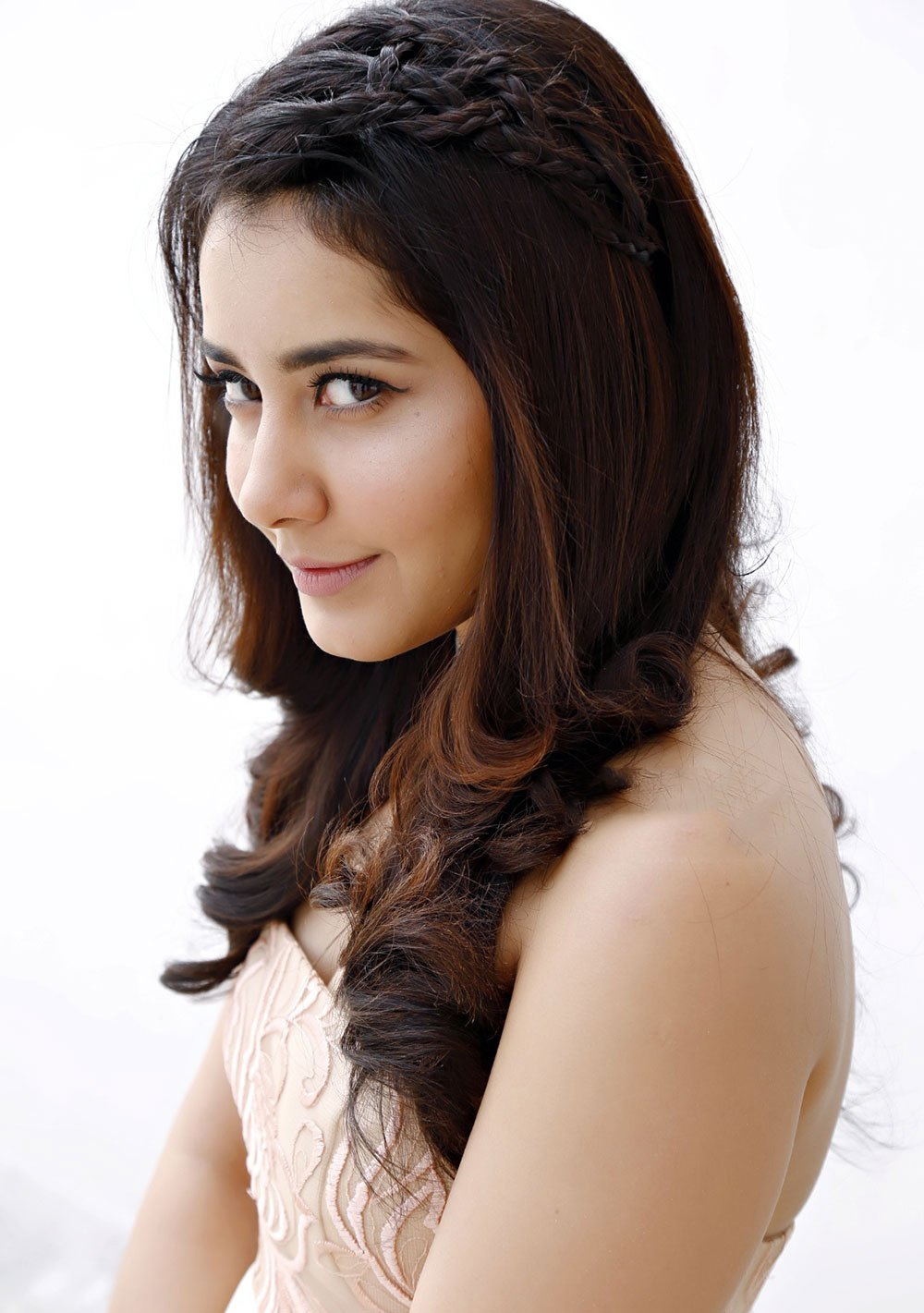 Actress Rashi Khanna Long Hair Closeup Face Stills