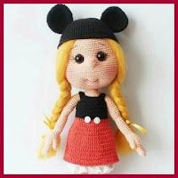 Muñeca Mickey amigurumi