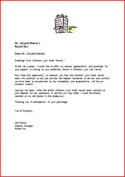 Hotel welcome letter from general manager 2018 worlds best hotels sample welcome letter format for hotels official blog of www setupmyhotel altavistaventures Gallery