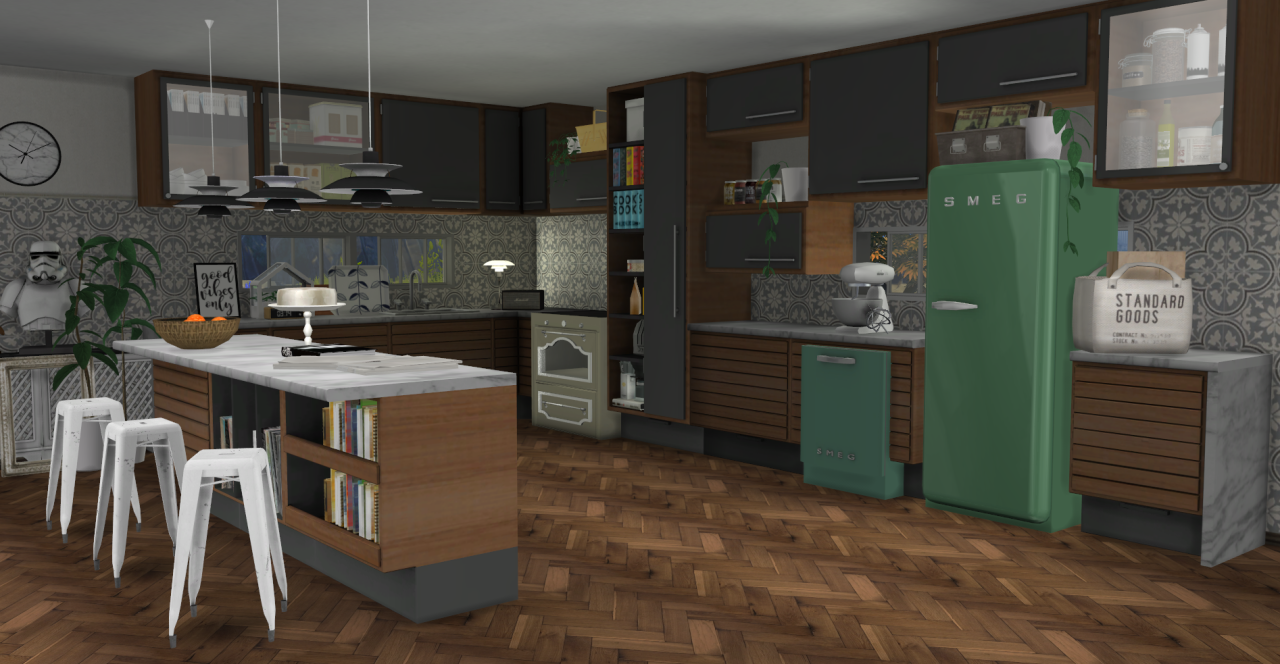 My sims 4 blog c series kitchen set by minc78 for Kitchen set sims 4