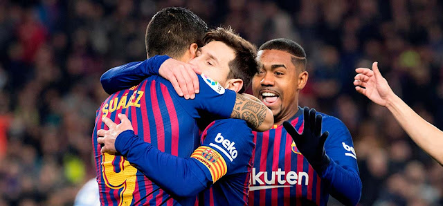 Messi salió al rescate y marcó el último tanto con un remate en el área en el descuento.