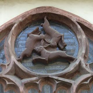 Símbolo de las Tres Liebres Catedral de Paderborn