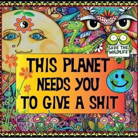 Poster of the Week - This Planet Needs You to Give a Shit - Save the Wildlife