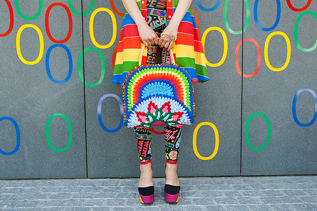 rainbow fashion, ootd, swiss fashion blogger