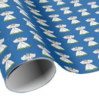 Masked Angel wrapping paper on Zazzle