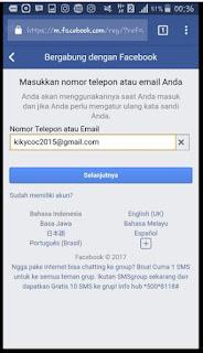 Buat akun FB