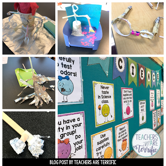 Here's a fun way to teach my your classroom rules. First, kids have a fun scavenger hunt to find items in the room- which just happens to include your Rules. So, what happens when they finish the hunt? THey build a model to represent on of the rules and teach it to the entire class!