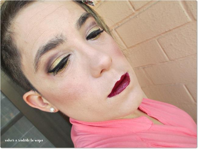 MAQUILLAJE | Ojos dorados y labios granates