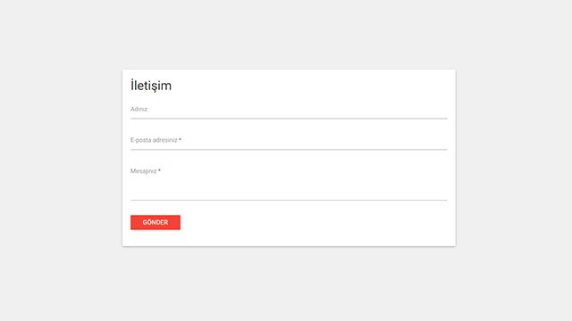 Material Tasarımlı Blogger E-posta ve İletişim Widget Kodları