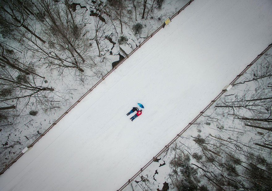 These Are The 35 Best Pictures Of 2016 National Geographic Traveler Photo Contest - Selfie Taken With A Drone, New Hampshire, United States