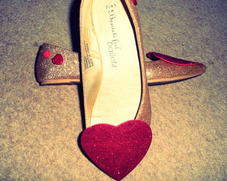Quick And Easy Shoe Re-Style For Valentines Day
