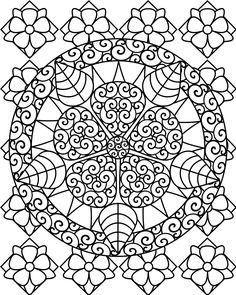 coloring pages coloring pages for abstract flowers