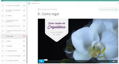Área de Membros - Curso Como Cuidar de Orquídeas