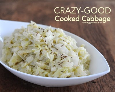 Crazy-Good Cooked Cabbage. Yes, it's true, crazy good even though just green cabbage and pantry ingredients. #LowCarb #GlutenFree For Weight Watchers, #PP2. And yes #CrazyGood.