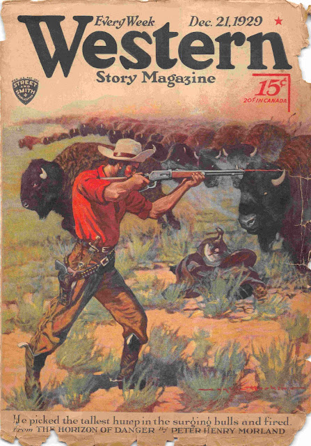 Western Story Magazine, December 21, 1929 cover by Gayle Hoskins