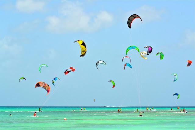 Aruba Caribbean Kite Surfing
