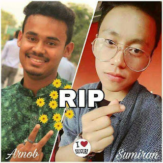 North Point Residential School Ranidanga siliguri student Arnob - Sumiran Rai met accident at siliguri and died
