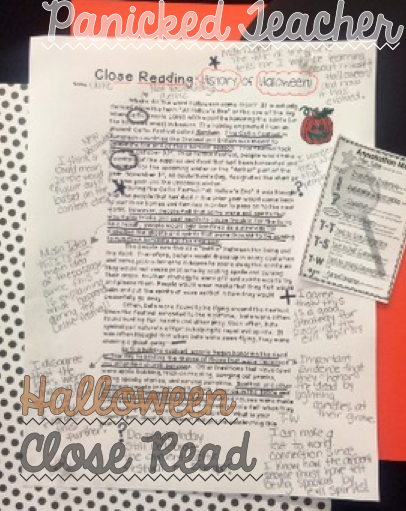 Halloween Close Read, All About Halloween, Halloween Informational Passage