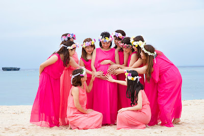 沖縄 女子会フォト 海