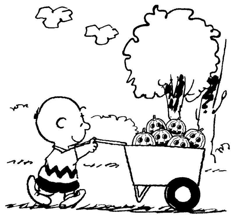colorear de Charlie Brown halloween - colorear tus dibujos