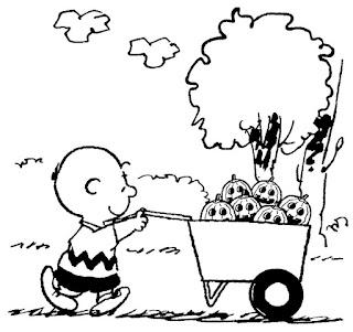 Halloveen Carlitos Snoopy para colorear