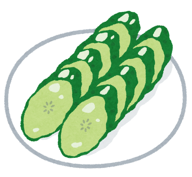 https://2.bp.blogspot.com/-L8J0k-vfTTM/W1vhHHtviTI/AAAAAAABNt8/xWv-0vZO-1gjAQDjL2cX37Kxo7SC-d0pwCLcBGAs/s800/food_tsukemono_kyuuri.png