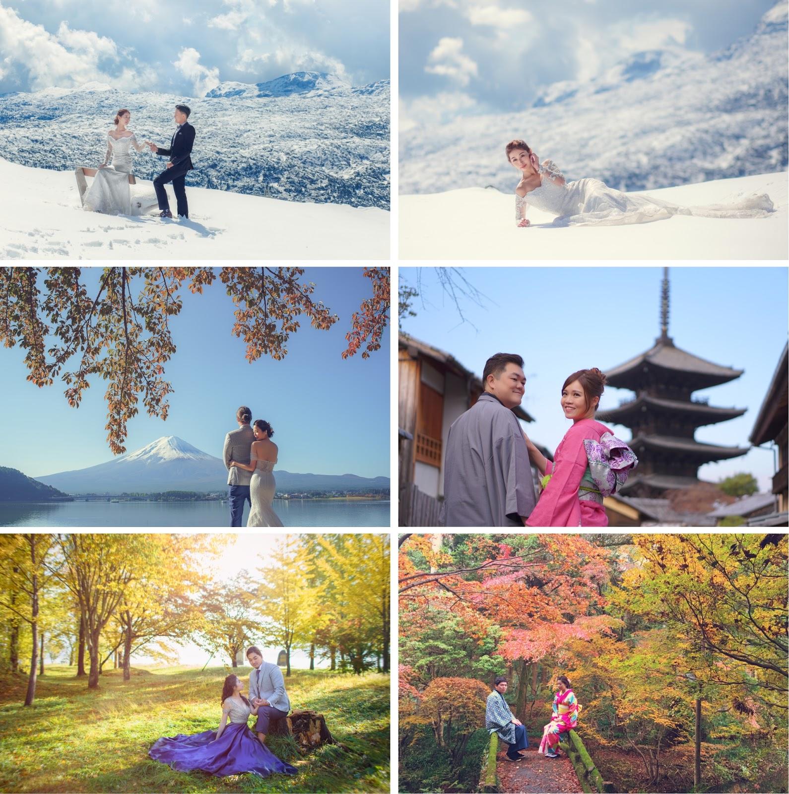日本富士山楓葉婚紗