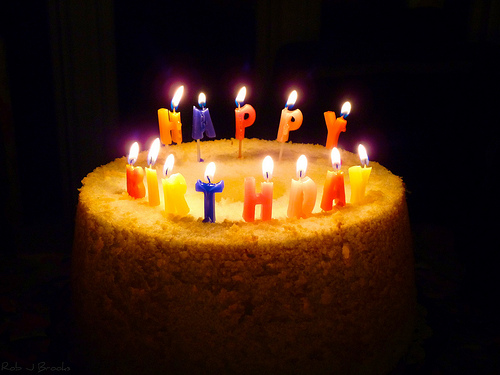 images of birthday cakes with candles and wishes - photo #9
