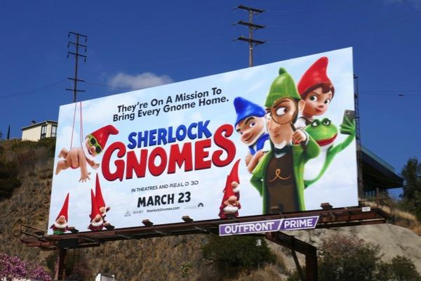 Sherlock Gnomes movie billboard