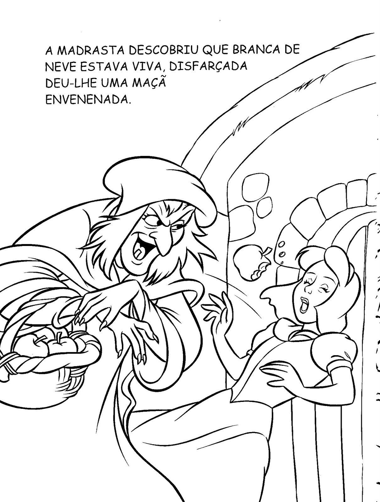 Blog Professor Zezinho : A Branca de Neve para colorir e