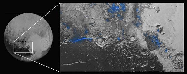 Gelo de água em Plutão