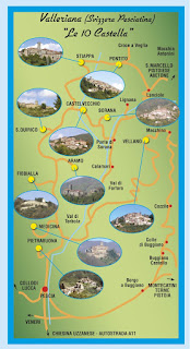 Valleriana - Map of Ten Castled Villages in Tuscany