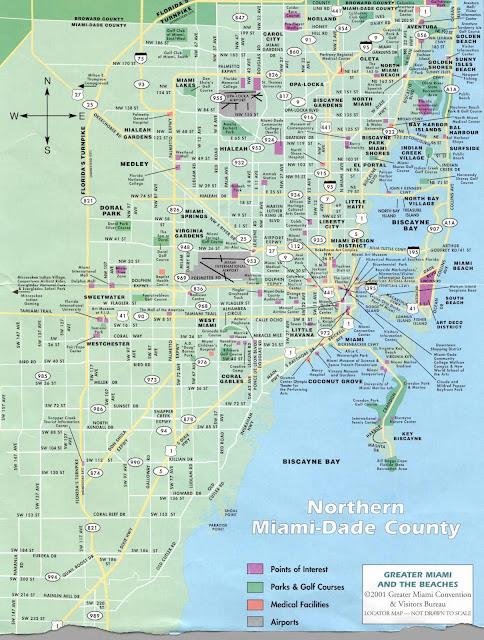 mapas de miami - eua | mapasblog