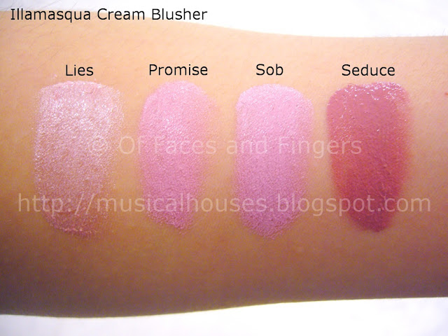 Illamasqua Cream Blusher Swatches