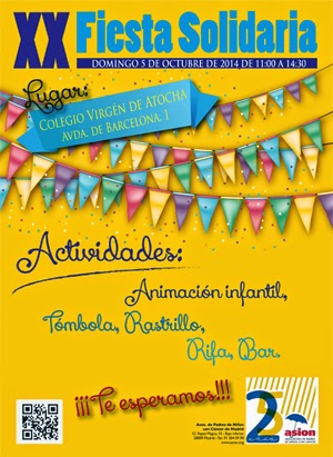 Cartel fiesta solidaria Asion