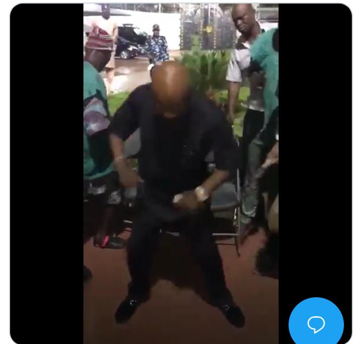 Billionaire Arthur Eze Dances To 'igba Eze Drum' At His