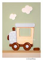 silueta de madera infantil locomotora tren babydelicatessen