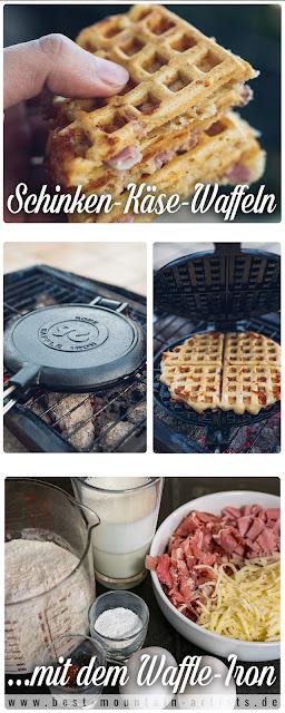 Outdoor Kitchen 09  Leckere Schinken-Käse-Waffeln aus dem Cast-Iron Waffeleisen  Waffle-Iron-Recipes  Rezepte Waffeleisen  Pie-Iron