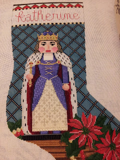 Susan Roberts needlepoint nutcracker stocking