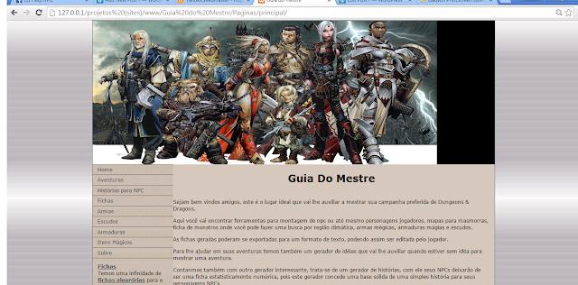Esta foi a primeira versão web que mais tarde se chamaria de Help RPG como vocês conhecem hoje.  - novembro de 2012
