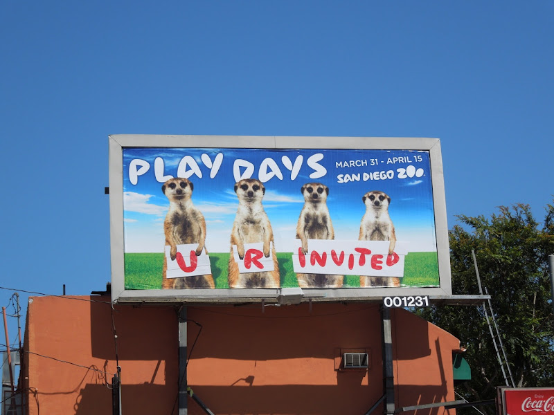 San Diego Zoo billboard