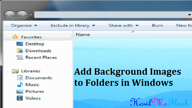 Add Background Images to Folders in Windows