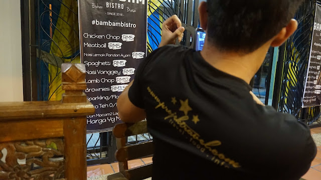Senarai menu yang sangat murah di Bam Bam Bistro