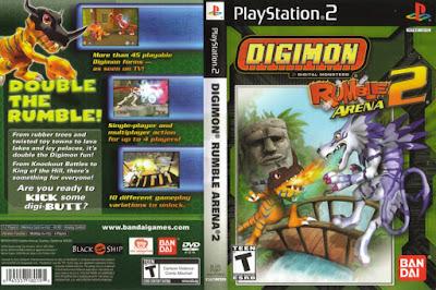 Jogo Digimon Rumble Arena 2 PS2 DVD Capa