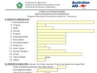 Aplikasi Formulir Bantuan Dana Akreditasi Sekolah atau Madrasah