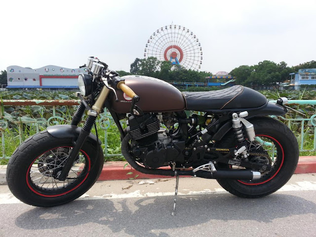 Honda CD 125 Benly độ Cafe Racer - Tracker - BMW - Army đẹp