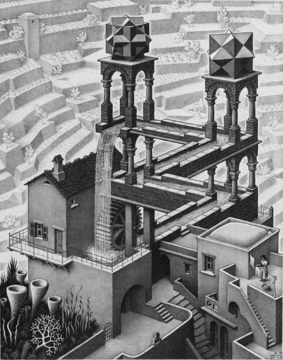 Escher: Waterfall