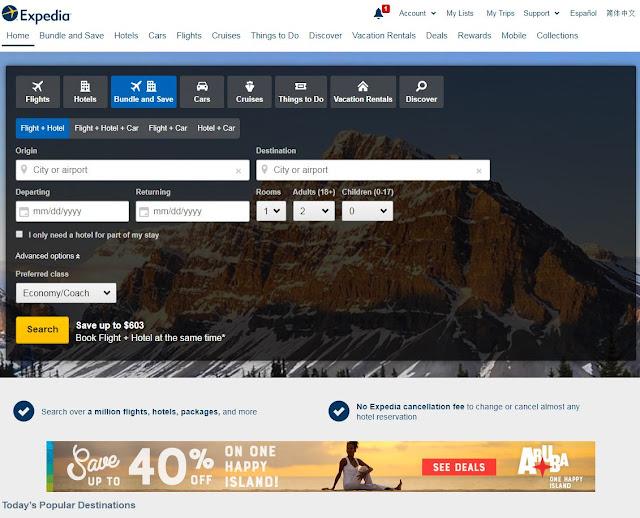 otel arama siteleri - expedia - hotels.com - seyahat önerileri