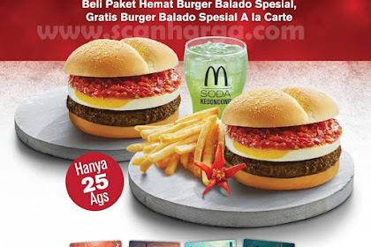 Harga Promo McDonalds Beli 1 Gratis 1 Edisi 25 Agustus 2018